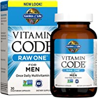 Garden of Life Vitamin Code Raw One for Men, Once Daily Multivitamin for Men, One a Day Mens Vitamins plus Fruit…