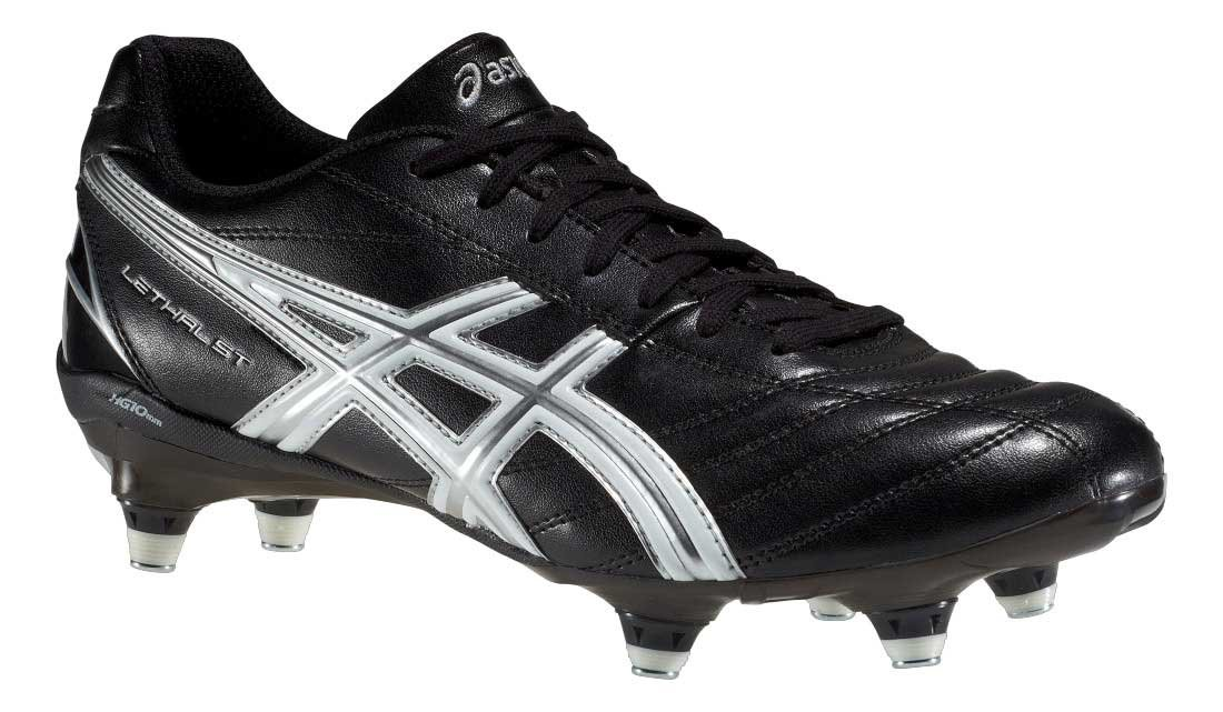 Asics Mens Lethal St Soft Ground Rugby Boots - Black - 8US
