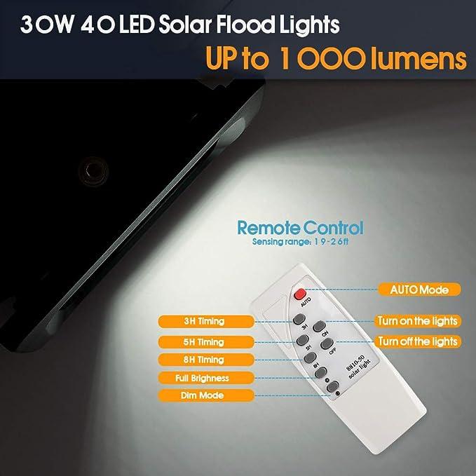 Amazon.com: Luces solares de riego de 30 W con alimentación ...
