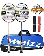 lightweight 100/% Graphite Shaft Senston 2 Pieces Carbon Alloy Badminton Set
