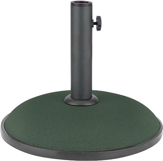 Base redonda para sombrilla de hormigón para jardín, patio, paraguas, parasoles, soporte de cristales: Amazon.es: Jardín