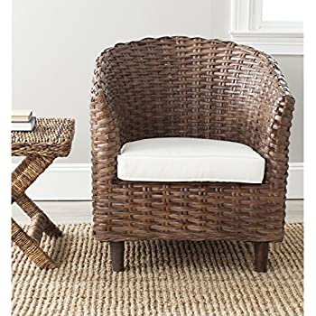 Safavieh Home Collection Omni Brown Glaze Barrel Chair