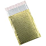 Aviditi GBM0711GD Glamour Bubble Mailer, 11'' Length x 7-1/2'' Width, Gold (Case of 72)