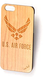 iPhone 6/6s Wood Case Real Wood Protective wood case for Apple iPhone 6/6s (Wood) - Air Force New Logo
