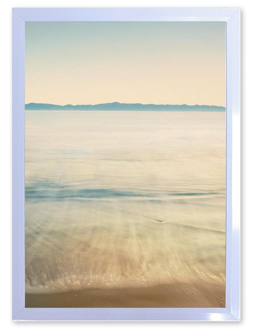 【DXポスター】風景写真のポスター フレーム付き海 サーフ ハワイ 西海岸 リゾート モダン 現代アートP-A2-GLT-1604-0004-wh P-A2-GLT-1604-0004-wh B073SHMLRZA2サイズ(59.4cm×42cm)+ホワイトフレーム