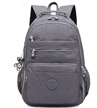 Mochila Escolar para Adolescentes Mujeres Mochilas Nylon Impermeable, Informal, Bolsa para Laptop, packFemale gray 33CMX16CMX47CM 1376: Amazon.es: Equipaje