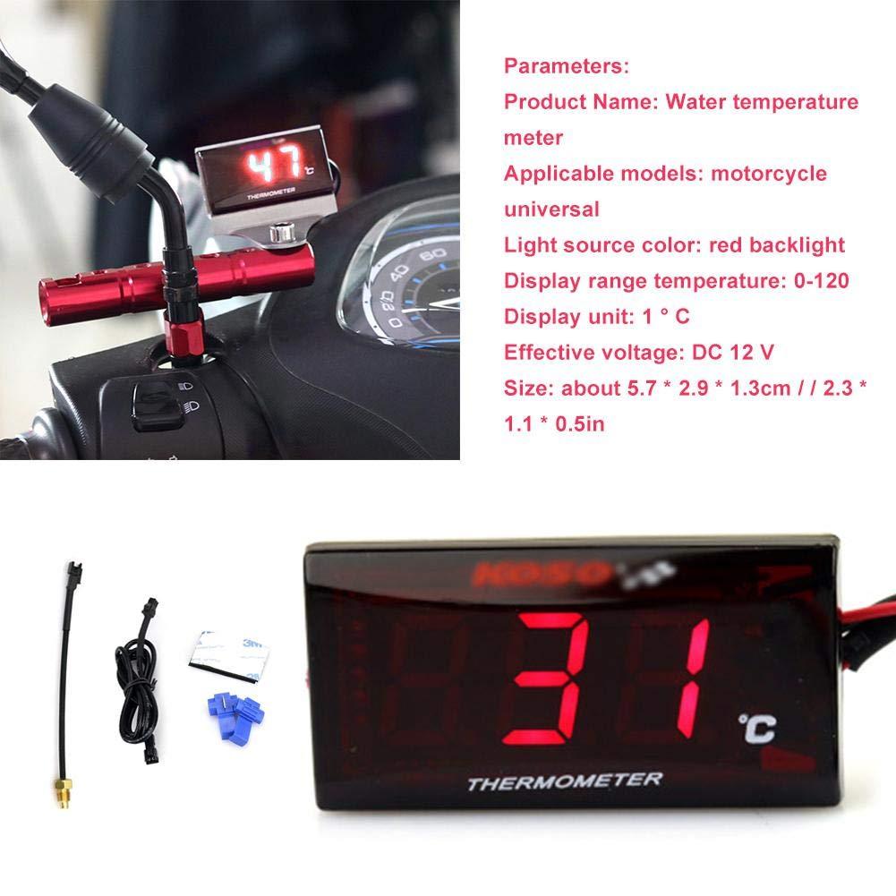 AIflyMi Universal Motorrad Digital Thermometer Wassertemperatur Messger/ät f/ür das Laufen des Rollers
