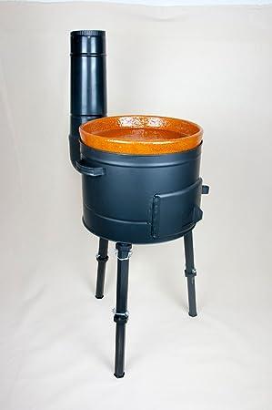 NUEVO bio Barbacoa bio tono set de horno parrilla Barbacoa de carbón rígida Barbacoa inkl Wok