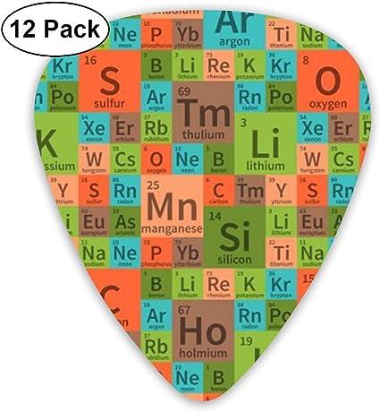 Química Elementos de la tabla periódica 351 Forma de guitarra de ...
