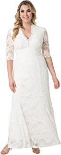 product image for Kiyonna Women's Plus Size Amour Lace Wedding Gown