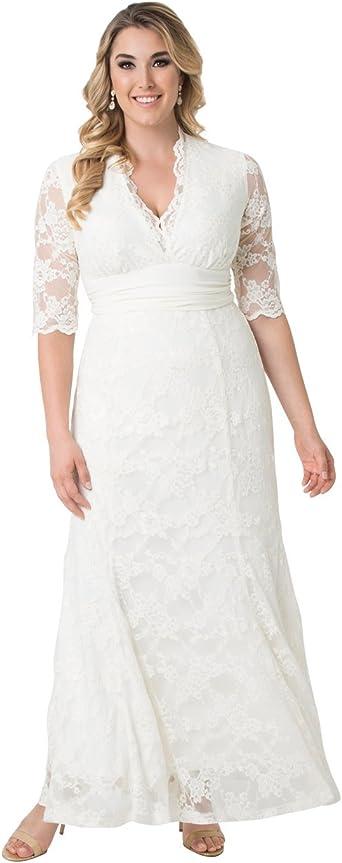 Kiyonna Women S Plus Size Amour Lace Wedding Gown At Amazon