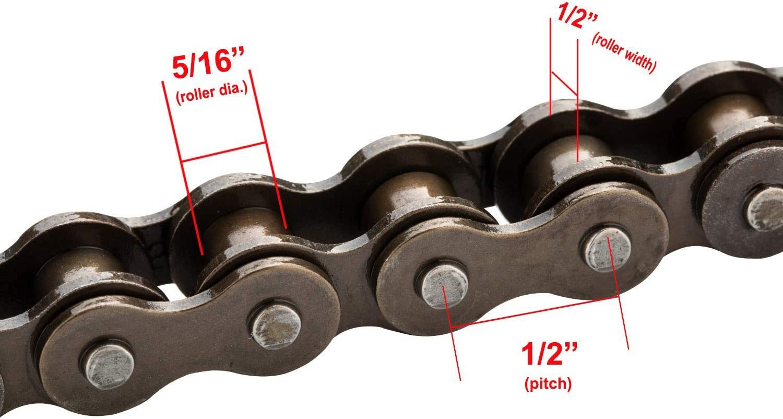 disjoncteur de cha/îne pour 110cc 125cc Dirt Pit Bike ATV Quad Go Kart Scooter Bike Cha/îne /à rouleaux standard 420 132 maillons Fltaheroo Cha/îne de moto 420