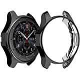 Haotop Case Compatible with Samsung Galaxy Watch, Soft Slim Full-Around Protective Case for Samsung Galaxy Watch 42mm 46mm (46mm, Black)