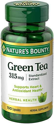 Nature s Bounty Green Tea Extract 315 mg Capsules 100 ea Pack of 7
