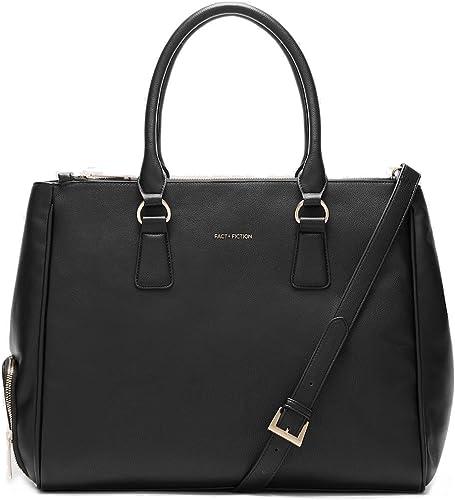 Fact + Fiction Sophia Tote Black: Amazon.co.uk: Shoes & Bags