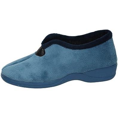 KOKIS 2055 Zapatilla Abrigada Mujer Zapatillas CASA Azul Cielo 40: Amazon.es: Zapatos y complementos