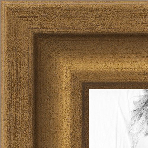ArtToFrames 24x34 inch Muted Gold Glow Picture Frame, 2WOMBW
