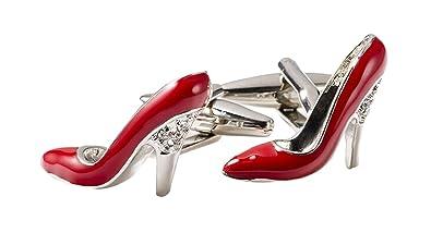 Amazon.com: Alto gemelos de plata, diseño de zapato de tacón ...