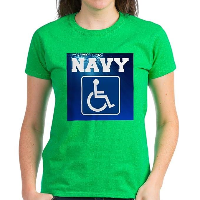 82eede2b79 Amazon.com: CafePress - Navy Disabled Handicapped Veteran T-Shirt ...
