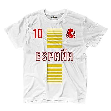 Camiseta T-shirt hombre nacional deporte Espana Spain 10 futbol deporte Europe Scudo 2 S