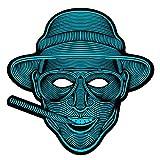 Halloween Mask The Sound Reactive LED Mask Party Dance Rave Light Up Women Men Mask, Man Head