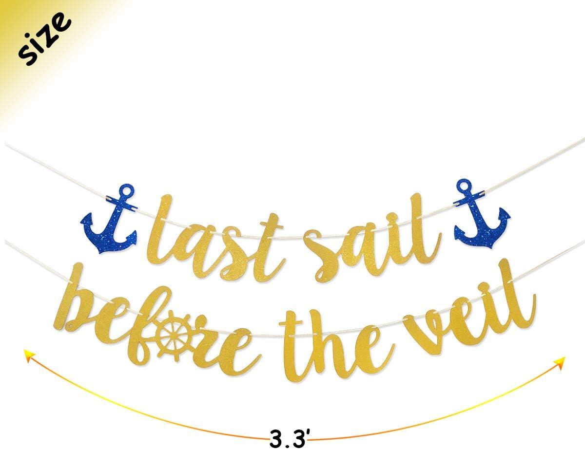 Anchor Bridal Shower Nautical Bachelorette Party Decor Last Sail Sign