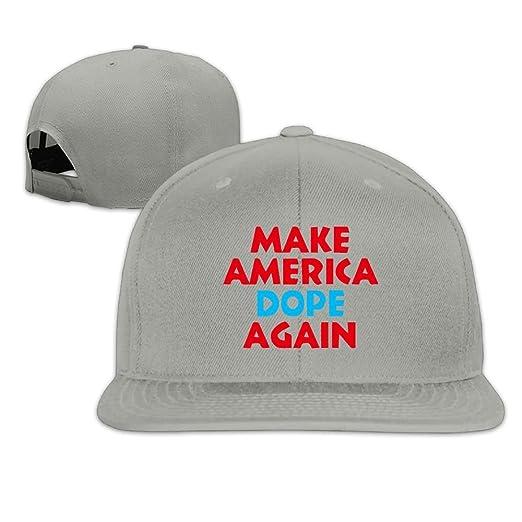 98aa4312 ... new zealand mens flat baseball cap plain make america dope again  trucker hat dd4d3 e4b16