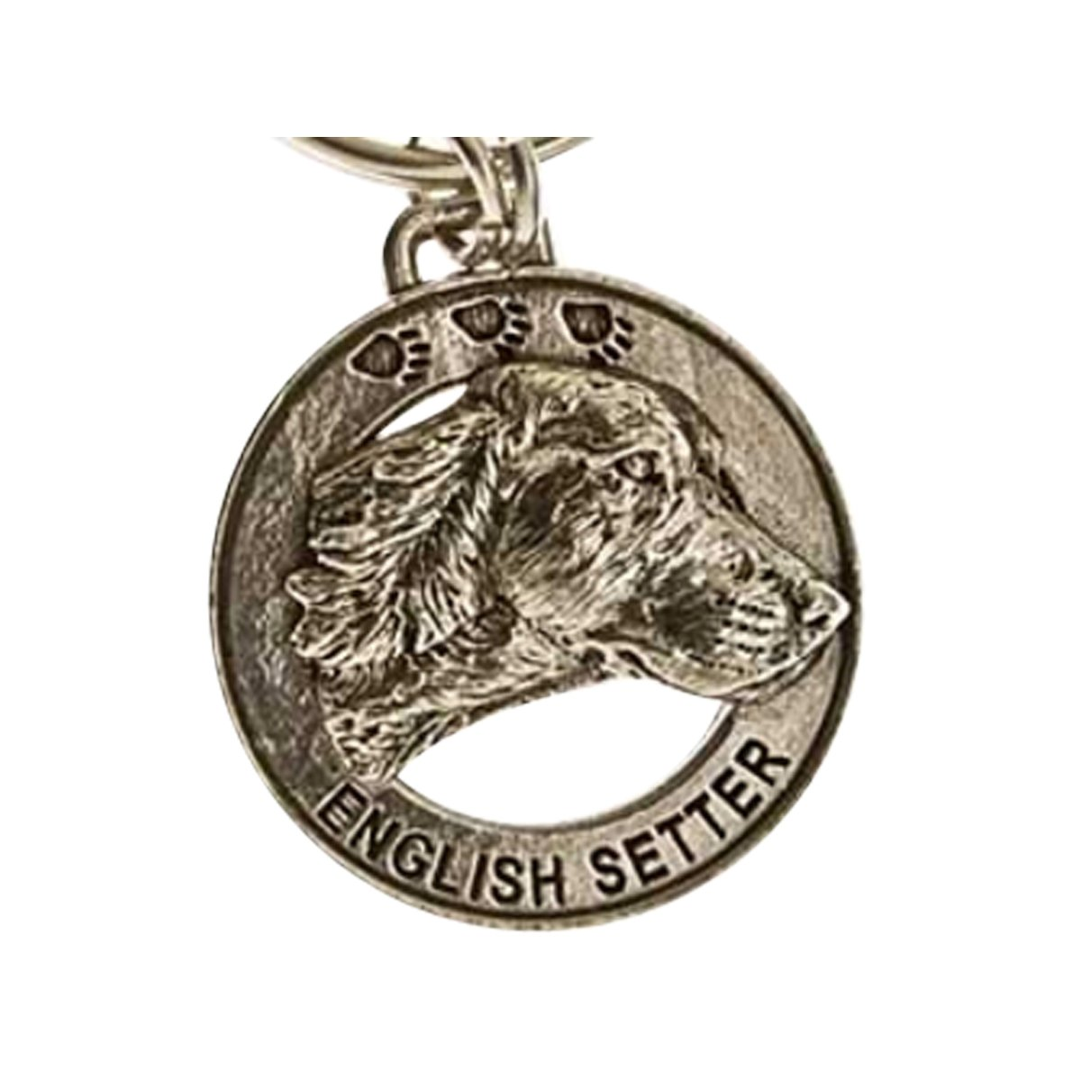 Creative Pewter Designs, Pewter English Setter Key Chain, Antiqued Finish, DK078