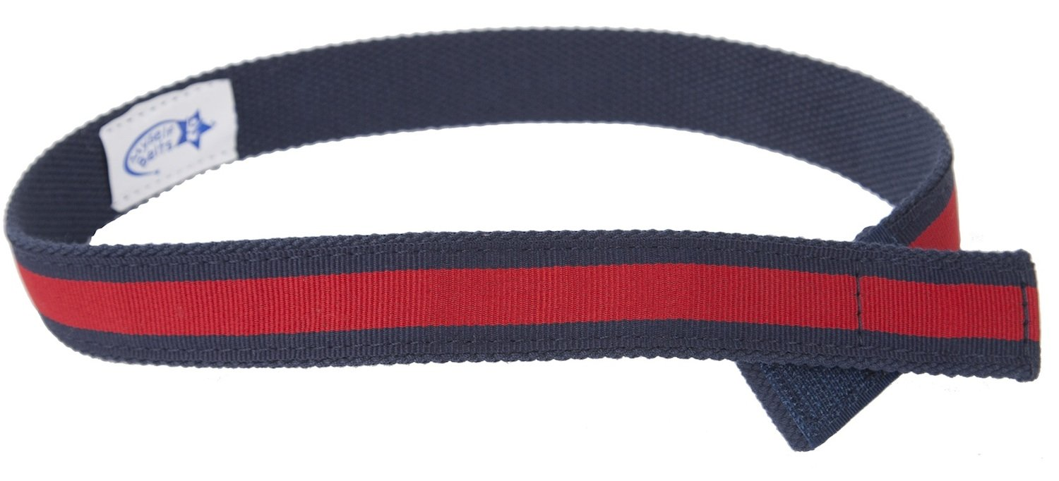 Myself Belts Baby Boys' Canvas Belt - Red Stripe - Small