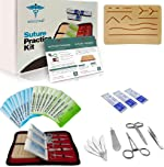 Suture Practice Kit w Suturing Guide E-Book,[Large Case Large Pad &