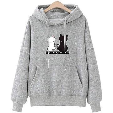 UpBeauty Women Casual Hooded Long Sleeve Prints Pullover Hoodie Fashion Hoodies