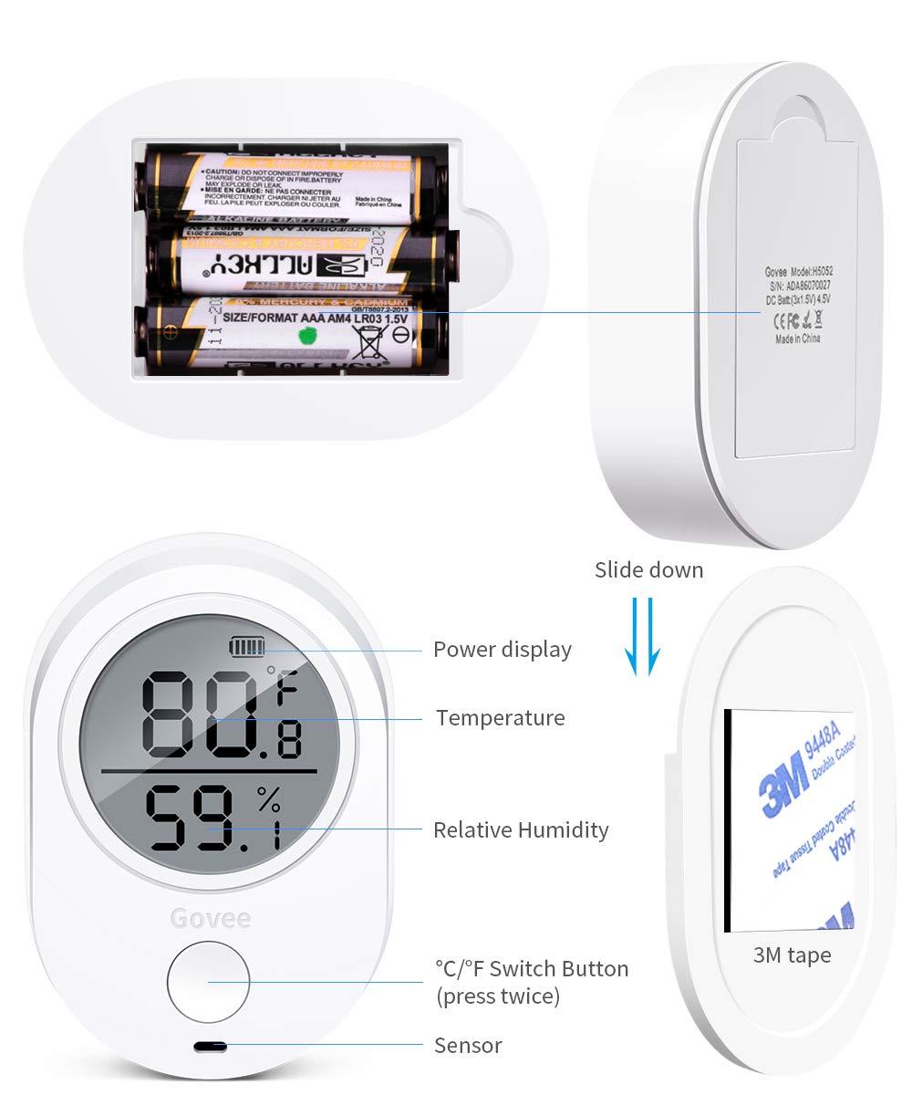 royalr Digital term/ómetro higr/ómetro /° C /° F Temperatura Interior Humedad medidor medidor Digital MAX Min Valor Nivel de Comodidad de visualizaci/ón
