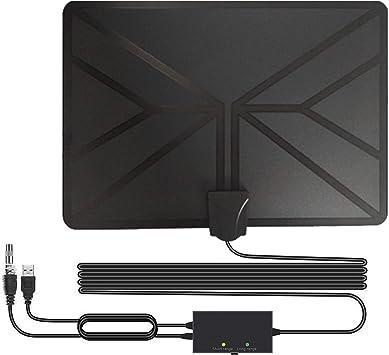 BESROY 2020 Newest Antena de TV Interior, HD Antena TV portátil HD TV Digital 120 Millas con Amplificador de señal Inteligente para Canales de TV gratuitos,compatible con 4K 1080P HD/VHF/UHF: Amazon.es: Electrónica