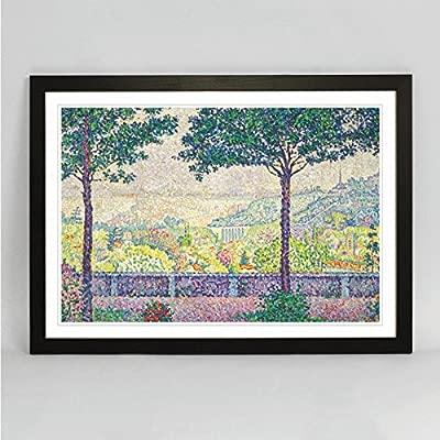 Cartel del arte enmarcado (A2) Paul Signac impresión terraza ...