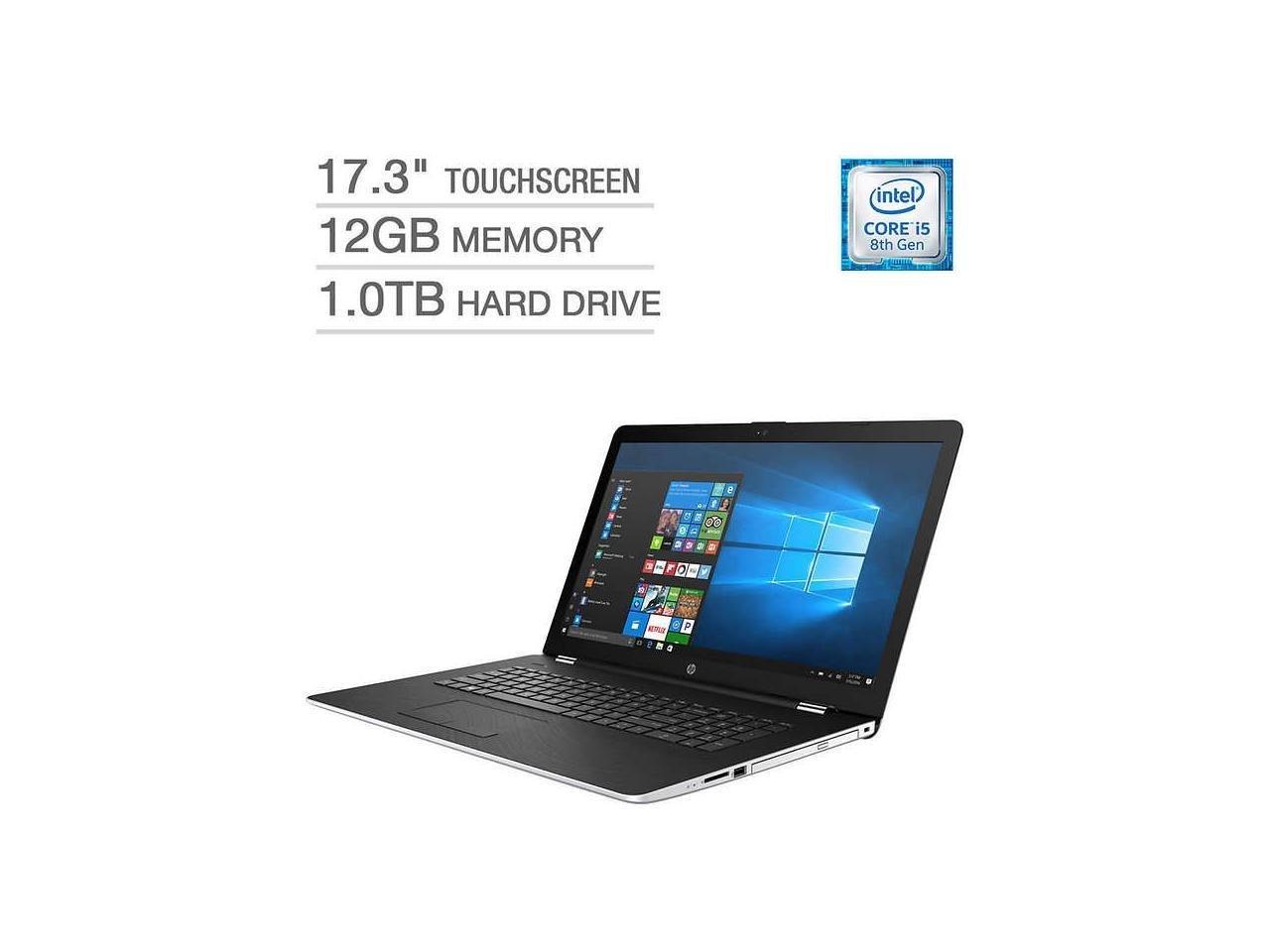 "2018 HP 17 17.3"" TouchScreen HD+ (1600x900) Business Laptop - 8th Gen Intel Quad-Core i5-8250U, 12GB DDR4, 1TB HDD, AMD Radeon 530, DVD, Backlit Keys, WiFi AC, RJ45, Windows 10 (Certified Refurbished)"