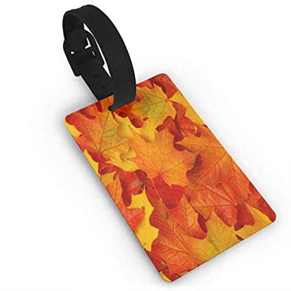 Amazon com   NgkagluxCap Luggage Tags Best Fall Leaves In