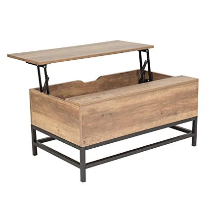 Wonderhome Coffee Table Wooden Lift Top Coffee Table With Storage