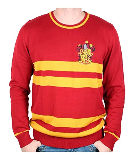 Harry Potter Knit Sweater Gryffindor Crest Red Yellow Amazoncouk