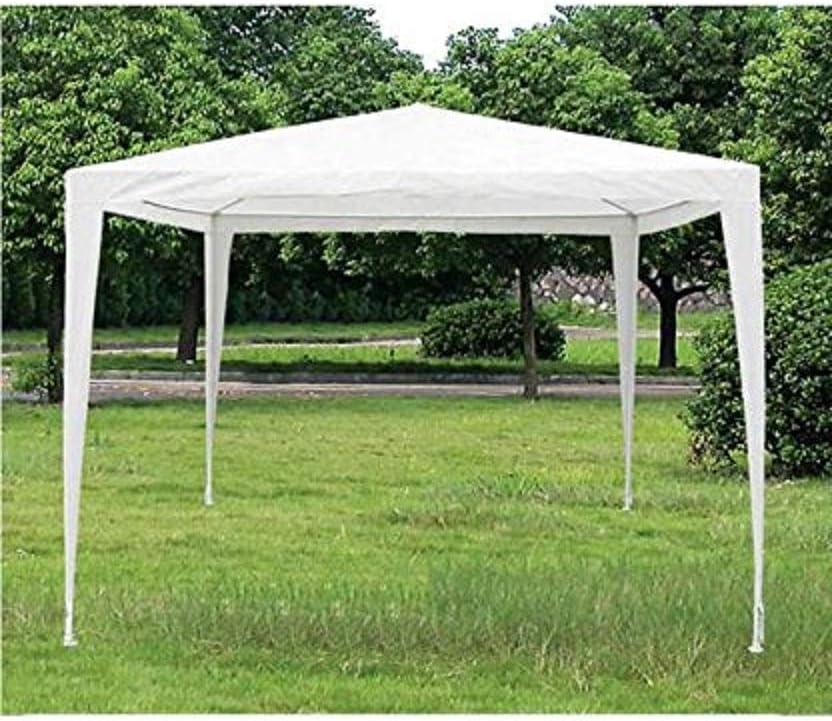 EGLEMTEK - Cenador de Exterior, Impermeable, Repelente al Agua y Resistente a los Rayos solares UV, Tienda de Camping, ferias, pic Nic con Estructura de Acero, Blanco, 3 x 3 m: Amazon.es: Hogar