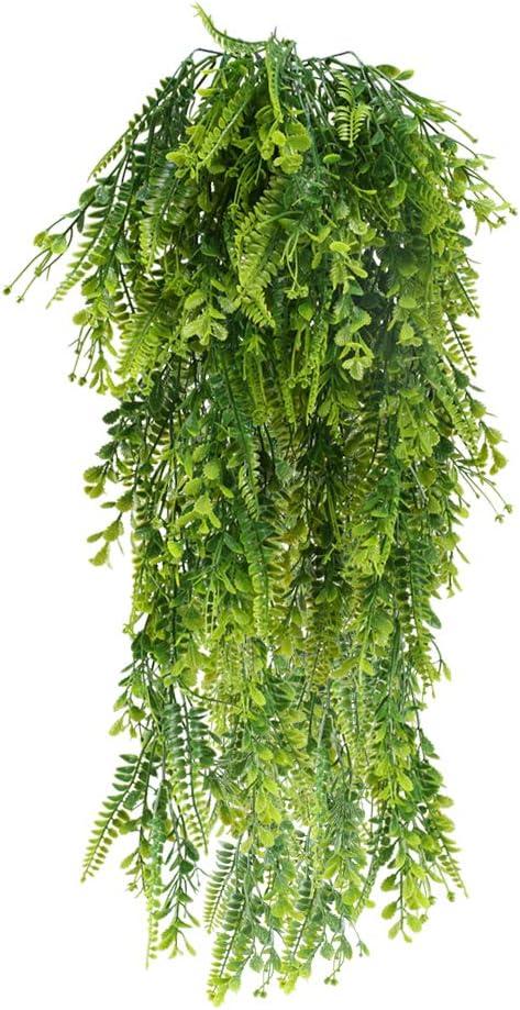 XHXSTORE 2 Pi/èces Vigne Artificielle Plantes Faux Lierre Artificielles Deco Int/érieur Ext/érieur Feuille Artificielle Lierre Plante Artificielle D/écoration de Maison Jardin Fleur