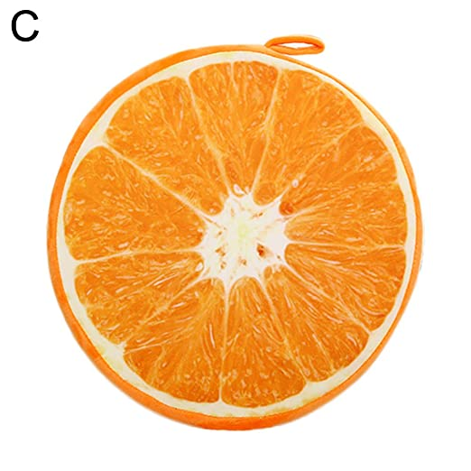 wonderfulwu 3D cojín de Frutas, Frutas patrón cojín Redondo ...