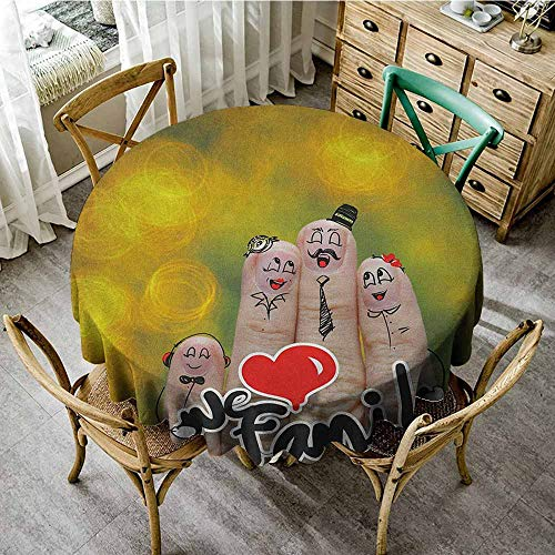 Rank-T Round Tablecloth Machine Washable 60