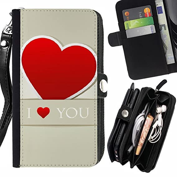 Amazon com: Graphic4You Love Heart Zipper Wallet With Strap