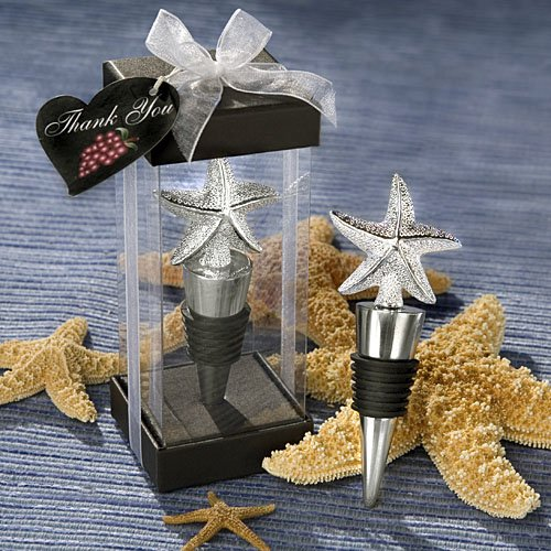 "Beach ""Starfish"" Design Wine Stopper Wedding Favors"