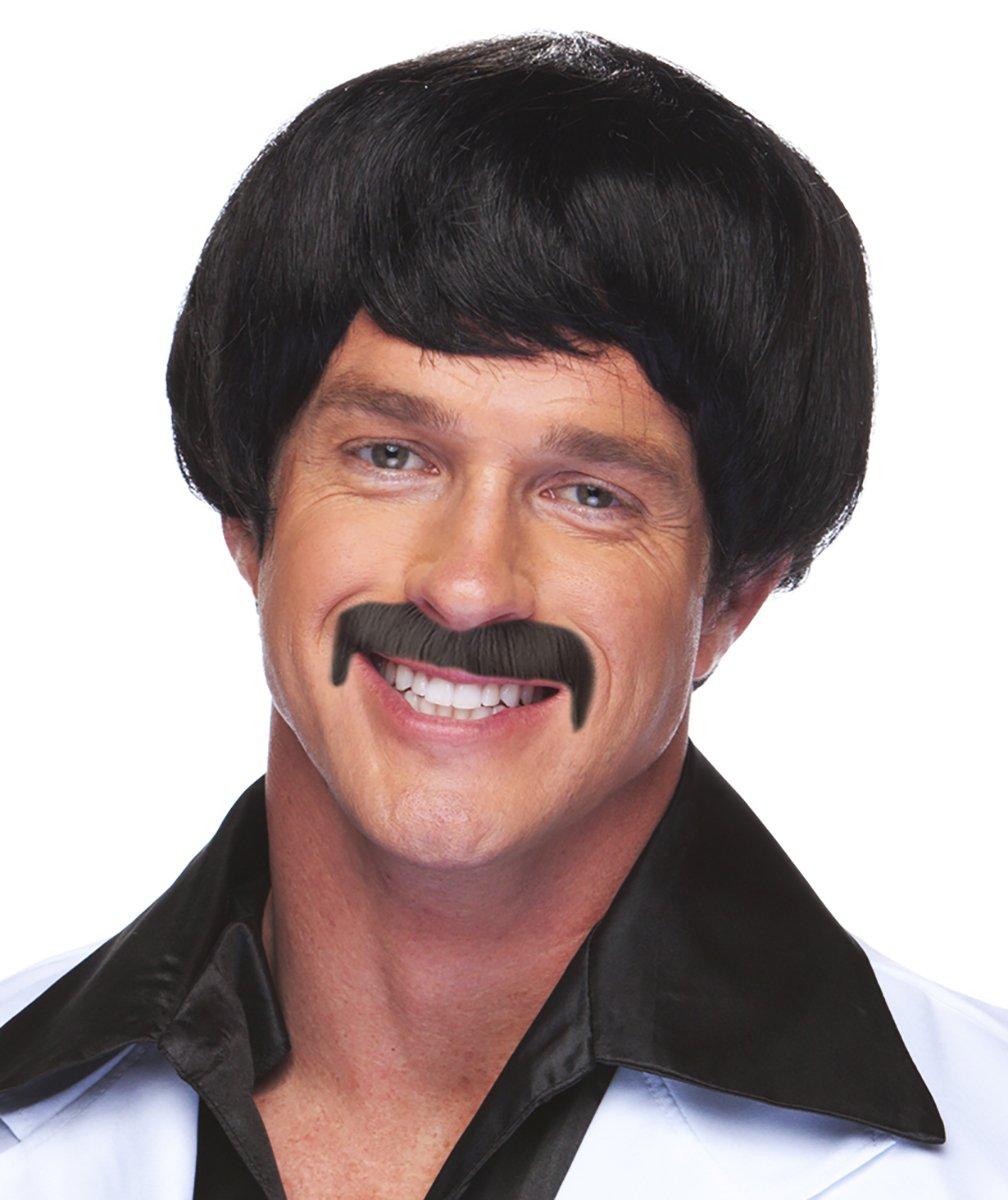 Sonny Bono Wig and Mustache Sonny Bono Burt Reynolds Costume Wig and Mustache
