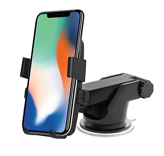newest 35f4e 55710 High Grade Easy One Touch 2 Car Mount Universal Alligator Clip Phone Holder  for iPhone X 8/8 Plus 7 7 Plus 6s Plus 6s 6 SE Samsung Galaxy S9 S9 Plus ...