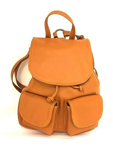 Rucksack aus Echtem Leder mit Taschen aus Italienischen Leder Rosso MainApps Zeta Shoes m2RYTCQt