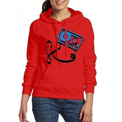 3D Audio Cassette Womens Hoodie Fleece Custom Sweartshirts