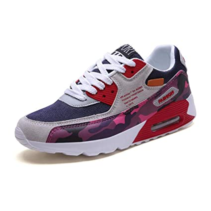 ZIXUAP Zapatos de Running de los Hombres de amortiguación Ligera Transpirable Deporte atlético Zapatillas para Caminar
