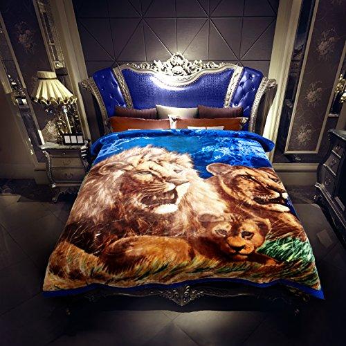 Heavy Korean Mink Fleece Blanket – 2 Ply Reversible 520GSM Silky Soft Plush Warm Blanket For Autumn (Faux Mink Blankets)